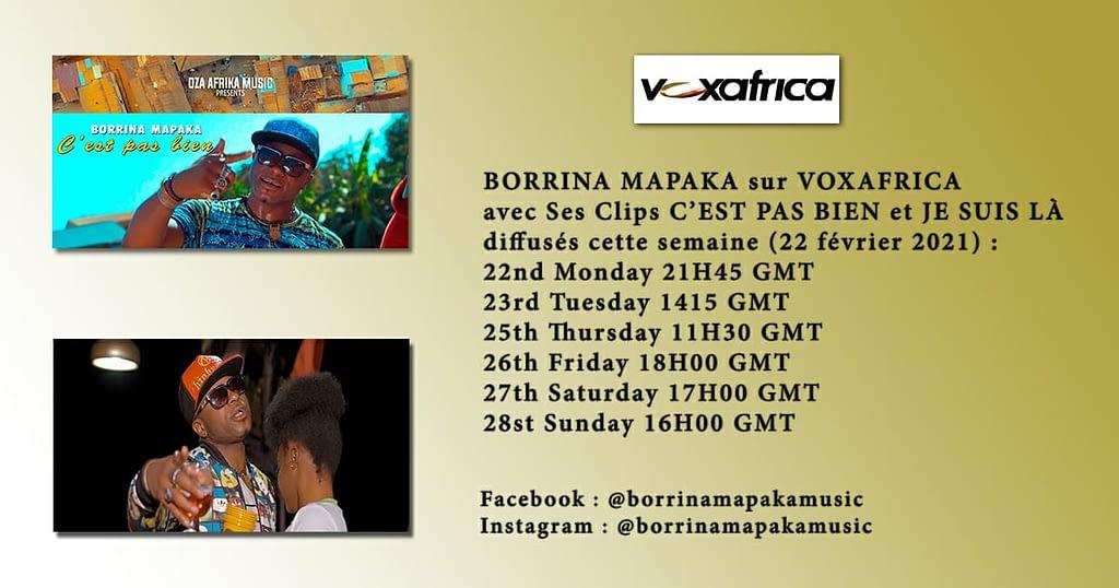 Programmation Borrina Mapaka sur Vox Africa